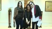 Martita la boxer de Cristina junto a Charly Garcia